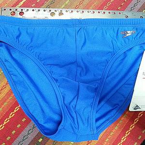 Speedo Men's Sapphire Blue Fitness Swimsuit NEW
